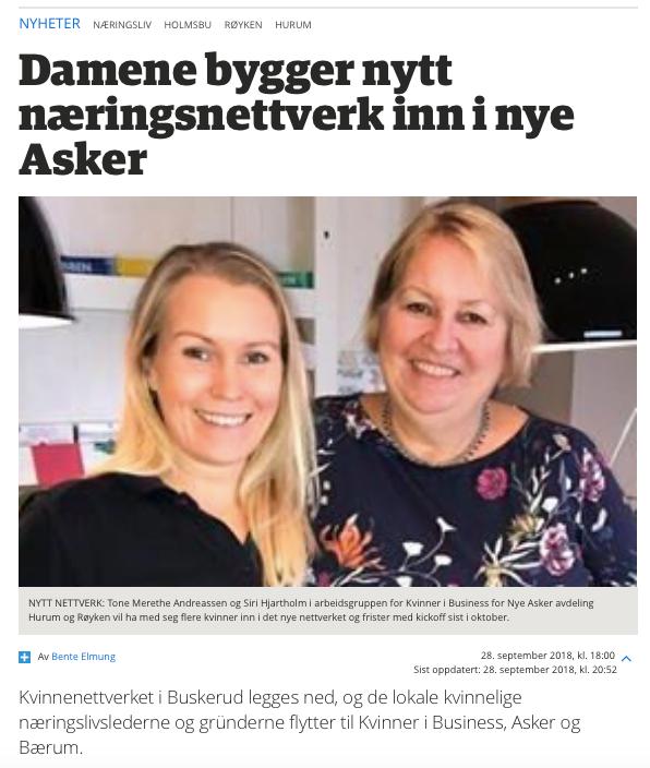 Kvinner i Business Røyken og Hurum